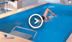 Lap pools lap swimming pools comparison to endless pools for Pool design company radom polen